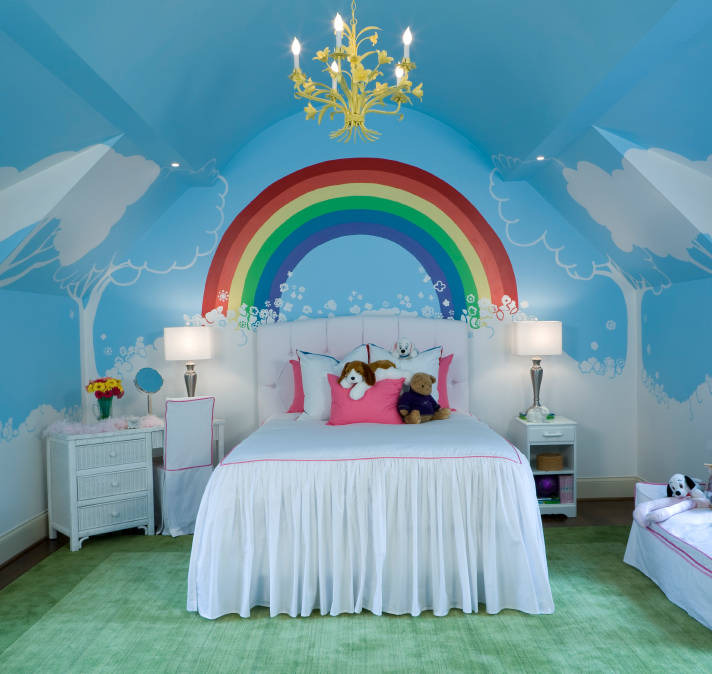 Custom painting services residential and commercial painters for Rainbow bedroom decor